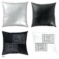 housse de coussin pour canapé coussin pour canape noir housse de coussin zip 40 x 40 cm spirale