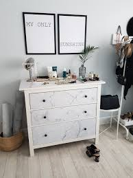 furniture makeovers without tools a short guide pixers wall diy ikea hemnes dresser makeover with self adhesive marble wallpaper from pixers styled by