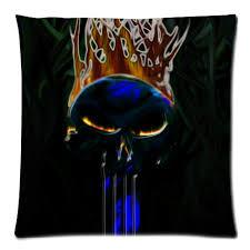 jet pour canap coussin décoratif couverture punisher crâne taie d oreiller de jet