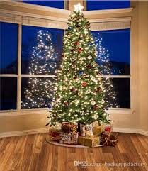blue sky outside window sparkling tree backdrop
