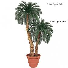 11 foot artificial outdoor cycas palm with 48 fronds single trunk