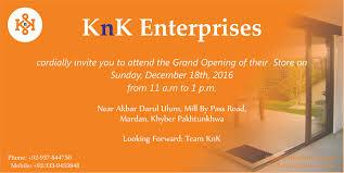 Invitation Card Grand Opening Blogs U2013 Knk Enterprises