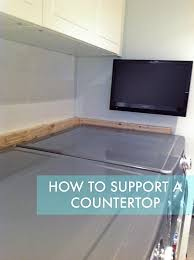 How To Install Corian Countertops How To Support A Countertop Rambling Renovators