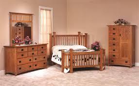 Oversized Bedroom Furniture Amish Made Oak Mission Bedroom Set