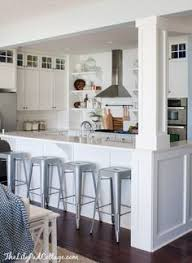 Kitchen Island With Posts Incorporate A Support Post Into Kitchen Island Kitchen Remodel