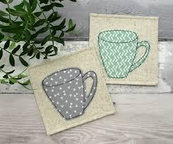 coaster set fabric coasters housewarming gift mug coasters