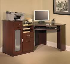 Corner Computer Desk Oak by Furniture Appealing Tall Narrow Corner Computer Desk With Black