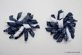 school hair accessories 2 korker hair clip curly ribbon bow school cheerleading