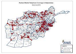 Tv Reception Map Coverage Footprint Telecom Regulatory Authority Of Afghanistan
