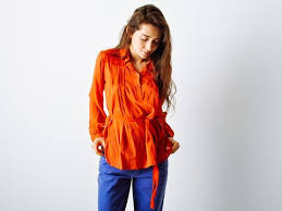 belted blouse maeven vintage clothing store