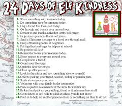 What Is The Meaning Of Bench 24 Days Of Elf Kindness A List For Kids A Deed A Day The
