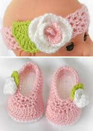 baby girl crochet crochet baby girl booties crochet baby shoes and headband set with