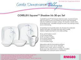 Corelle Square 30 Piece Dinnerware Set Z Khayra Luxuries Pre Order Corelle 30 Pc U0026 76 Pc Dinnerware Sets
