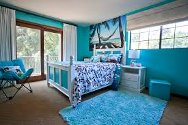 home design wonderful ocean themed room ideas bringing the turquoise rug in inspiring tropical kids bedroom design