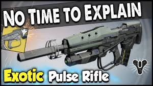 No Time To Explain Meme - destiny how to get no time to explain exotic pulse rifle