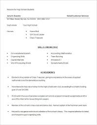 good resume exles for highschool students good resume exles for a highschool student archives endspiel us