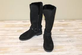 womens size 9 ugg boots ebay ugg australia s braiden genuine shearling lined boot black
