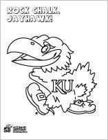 Ku Alumni Association A Coloring Sheet