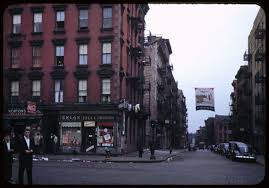 which corner does a st go on old new york photographed in color