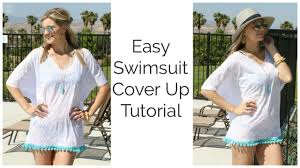easy swimsuit cover up tutorial diy youtube