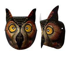 owl printable paper mask halloween mask 11 x 17