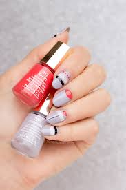 silver grey nail design with mavala first class collection more