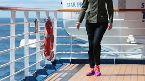Alaska travel shoes images Man legs walk away on cruise ship deck for exercise good activity jpg