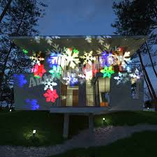 Projector Christmas Lights by Moving Sparkling Led Snowflake Landscape Projector Laser Wall Lamp