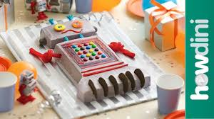 birthday cake ideas how to make a robot birthday cake youtube