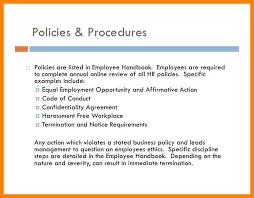 7 employment handbook examples letterhead format