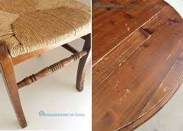 Driftwood Kitchen Table Remodelando La Casa Kitchen Table And Chairs Makeover