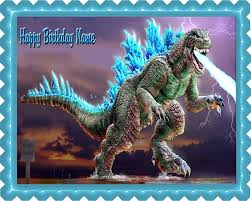 godzilla cake topper godzilla 2 edible birthday cake topper or cupcake topper decor