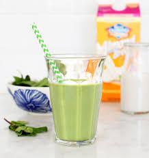 minty green shamrock shake smoothies recipe love and lemons