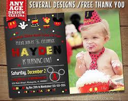mickey mouse birthday invitations mickey mouse invitation etsy