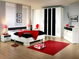 bedroom cute red bedroom decor white and black ideas art
