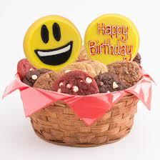 birthday presents delivered next day birthday basket emoji gift cookies by design