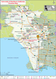 Greater Los Angeles Map by University Of Southern California Usc Los Angeles Where Is