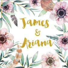 wedding backdrop name custom name backdrop watercolor floral from mrscustomshop on etsy