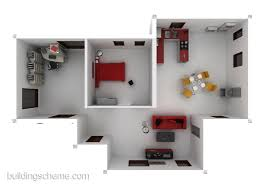 3d Home Plans by Building Scheme 3d Home Design Idea With One Master Bedroom And