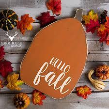 Rustic Fall Decor Amazon Com Hello Fall Pumpkin Sign Rustic Pumpkin Sign Rustic
