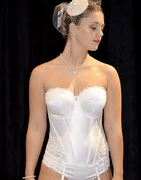 Where To Buy Wedding Lingerie Ivory Bridal Basque With Lace Trim Available To Order At Www