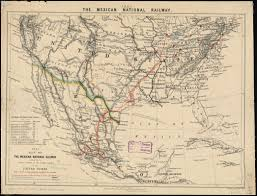 Map Of The United States And Mexico by The Southwestern Railroad System United States And Mexico