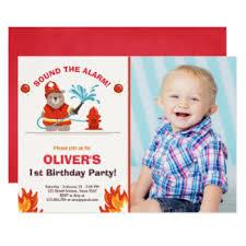 fireman birthday invitations u0026 announcements zazzle