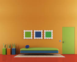 what color goes with orange walls schemes for orange walls
