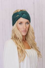 winter headband cross tie knit headband knitting patterns inspiration