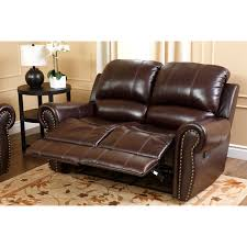 Power Reclining Sofa Set Abbyson Burgundy Italian Leather Reclining Loveseat