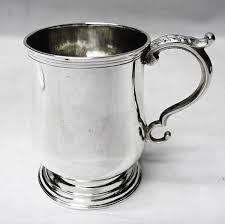 silver mug antique colonial silver mug waxantiques