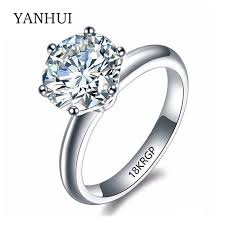 2 engagement rings 18krgp st original gold ring set 8mm 2 carat sona cz diamant