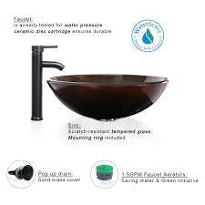 eclife promotion 1 5 gpm round artistic bathroom vessel sink combo