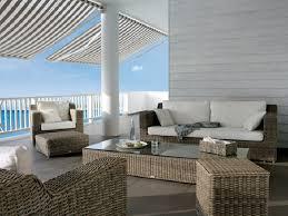 Modern Wicker Furniture by Modern Patio Furniture Round Rattan Sofa Set Omr F155 Omier